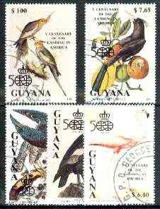 Guyana 1991 500th Anniversary of Discovery of America (Birds) complete set of 5 fine cto used*