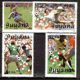 Guyana 1989 Football World Cup set of 4 fine cto used, Sc #2220-23*