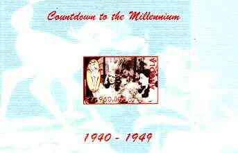 Angola 1999 Countdown to the Millennium #05 (1940-1949) imperf souvenir sheet (Gable, Garland & Disney