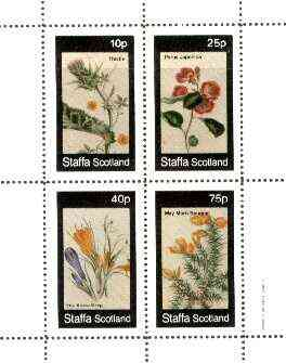 Staffa 1982 Flowers #49 (Japonica, Thistle, Snow Drop & Morn Bouquet) perf set of 4 values unmounted mint