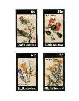 Staffa 1982 Flowers #49 (Japonica, Thistle, Snow Drop & Morn Bouquet) imperf set of 4 values unmounted mint