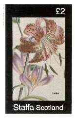 Staffa 1982 Flowers #49 (ILadye) imperf deluxe sheet (�2 value) unmounted mint