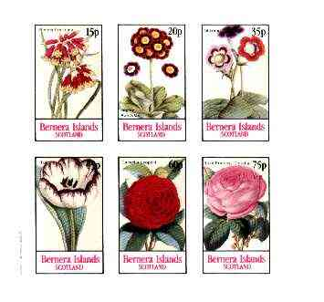 Bernera 1982 Flowers #22 (Auriculas, Rose, Tulip, etc) imperf  set of 6 values unmounted mint