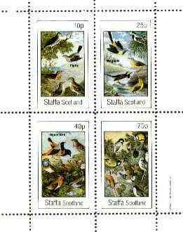 Staffa 1982 Birds #65 (Pipits, Wagtails, Accentors & Mixed) perf set of 4 values unmounted mint
