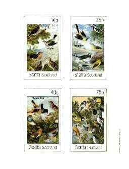 Staffa 1982 Birds #65 (Pipits, Wagtails, Accentors & Mixed) imperf set of 4 values unmounted mint