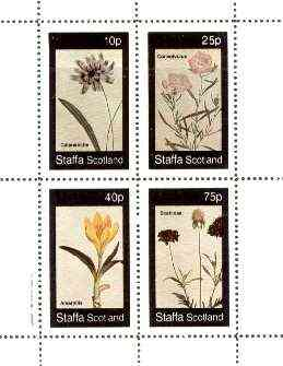 Staffa 1982 Flowers #50 (Catananche, Amaryllis, Convolvulus & Scabiosa) perf set of 4 values unmounted mint