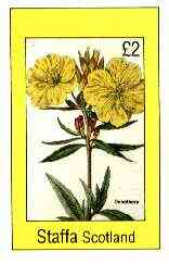 Staffa 1982 Flowers #51 (Oenothera) imperf deluxe sheet (�2 value) unmounted mint
