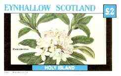 Eynhallow 1982 Flowers #29 (Rhododendron) imperf deluxe sheet (�2 value) unmounted mint