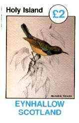 Eynhallow 1982 Sunbirds (Nectarinia venusta) imperf deluxe sheet (�2 value) unmounted mint