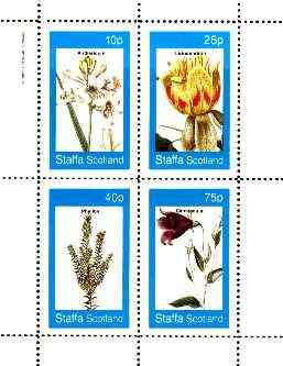 Staffa 1982 Flowers #52 (Anthericum, Campanula, etc) perf set of 4 values unmounted mint