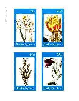 Staffa 1982 Flowers #52 (Anthericum, Campanula, etc) imperf set of 4 values unmounted mint
