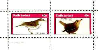 Staffa 1982 Birds #66 (Oven bird & Winter Wren) perf set of 2 values unmounted mint