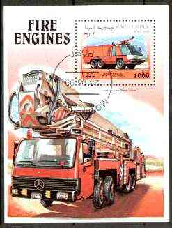 Somalia 1999 Fire Engines perf m/sheet fine cto used