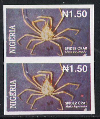 Nigeria 1994 Crabs (Spider) N1.50 unmounted mint imperf pair