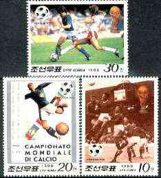 North Korea 1988 Football World Cup perf set of 3 unmounted mint, SG N2767-69*