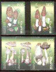 Belarus 1998 Fungi perf set of 5 unmounted mint (tete-beche pairs pro rata)