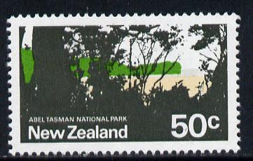 New Zealand 1970-76 National Park 50c (from def set) with apple green omitted unmounted mint, SG 932a
