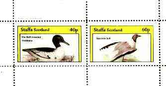 Staffa 1982 Birds #68 (Sheldrake & Gull) perf set of 2 values unmounted mint