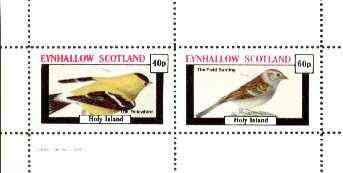 Eynhallow 1982 Birds #29 (Yellowbird & Field Bunting) perf set of 2 values unmounted mint