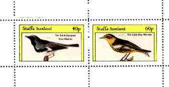 Staffa 1982 Birds #70 (Blue & Cape May Warblers) perf set of 2 values unmounted mint