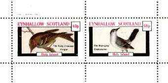 Eynhallow 1982 Birds #31 (Kinglet & Gnatcatcher) perf set of 2 values unmounted mint