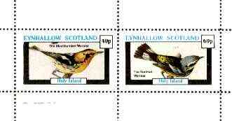 Eynhallow 1982 Birds #32 (Blackburnian & Spotted Warblers) perf set of 2 values unmounted mint