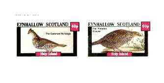 Eynhallow 1982 Game Birds (Partridge & Grouse) imperf set of 2 values unmounted mint