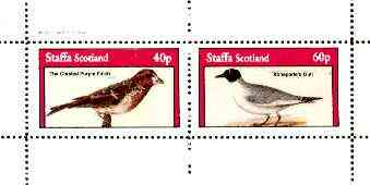 Staffa 1982 Birds #73 (Finch & Gull) perf set of 2 values unmounted mint