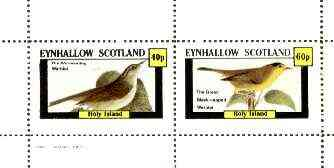 Eynhallow 1982 Birds #33 (Worm-Eating & Black-Capped Warblers) perf set of 2 values unmounted mint
