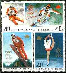 North Korea 1987 Calgary Winter Olympics perf set of 4 unmounted mint, SG N 2729-32*