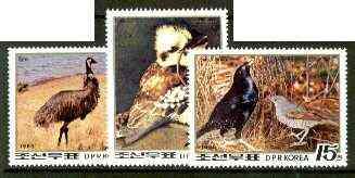 North Korea 1988 Bicentenary of Australia perf set of 3 (Birds) unmounted mint, SG N2793-95*