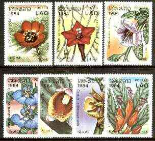 Laos 1984 Woodland Flowers complete set of 7 unmounted mint, SG 741-47*