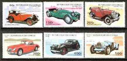 Congo 1996 Cars perf set of 6 unmounted mint