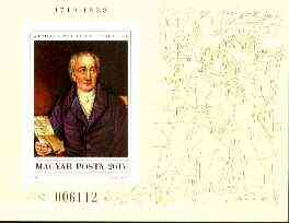 Hungary 1982 Goethe Death Anniversary unmounted mint imperf miniature sheet Mi Bl 161B