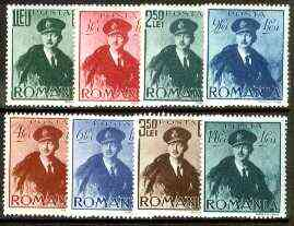 Rumania 1940 Aviation set of 8 unmounted mint, SG 1430-37, Mi 617-24