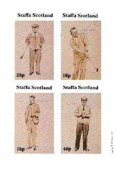 Staffa 1981 Golfers imperf set of 4 values (10, 25, 40 & 75p) unmounted mint