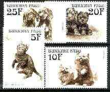 Burkina Faso 1999 Kittens & Puppies set of 4 unmounted mint