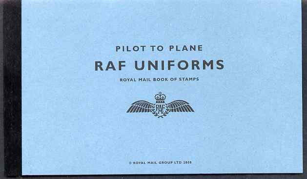 Booklet - Great Britain 2008 Pilot to Plane - RAF Uniforms \A37.15 Prestige booklet complete and very fine, SG DX42