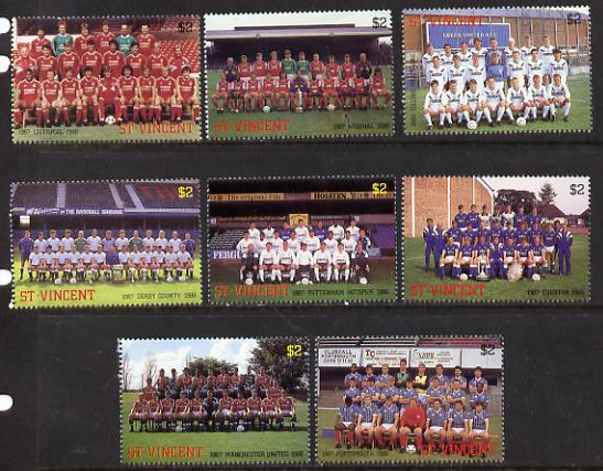 St Vincent 1987 English Football teams perf set of 8 unmounted mint SG 1090-97)