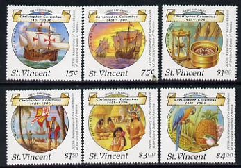 St Vincent 1988 Columbus perf set of 6 unmounted mint, SG 1125-30*