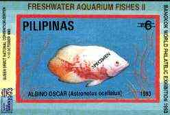 Philippines 1993 Fish imperf souvenir sheet with Bangkok 93 imprint, overprinted SPECIMEN, unmounted mint scarce publicity proof, only 200 produced