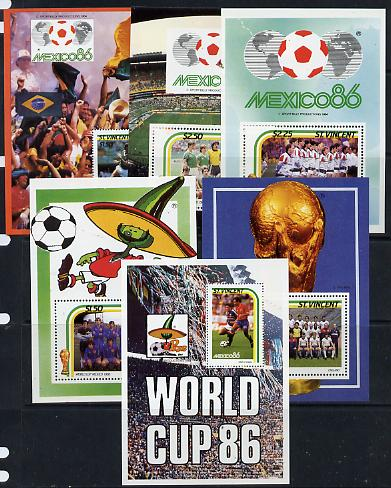 St Vincent 1986 World Cup Football set of 6 m/sheets unmounted mint SG MS 995
