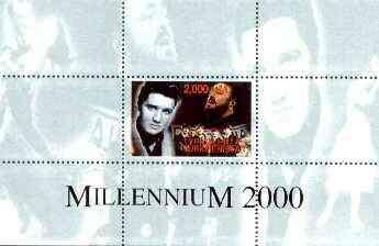 Turkmenistan 1999 Millennium Personalities (Elvis, Pavarotti & Beatles) perf souvenir sheet unmounted mint