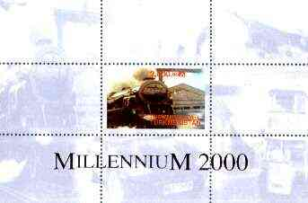 Turkmenistan 1999 Millennium Transport (Railways, Concorde & Buses) perf souvenir sheet unmounted mint