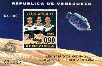 Venezuela 1969 First Man on the Moon imperf m/sheet unmounted mint, SG MS 2099