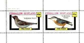 Eynhallow 1982 Birds #36 (Waxwing & Nuthatch) perf set of 2 values unmounted mint