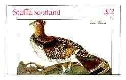 Staffa 1982 Birds #74 (Ruffed Grouse) imperf deluxe sheet (�2 value) unmounted mint