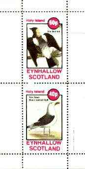 Eynhallow 1982 Birds #41 (Boblink & Gull) perf set of 2 values unmounted mint