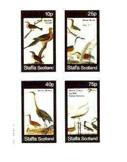 Staffa 1982 Birds #75 (Herons, Thrush, Crane, etc) imperf set of 4 values unmounted mint