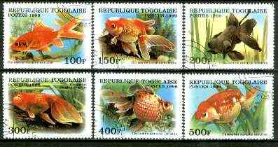 Togo 1999 Fish complete set of 6 values fine cto used*